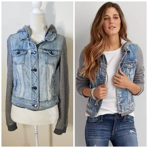 American Eagle | mock double layer jean jacket